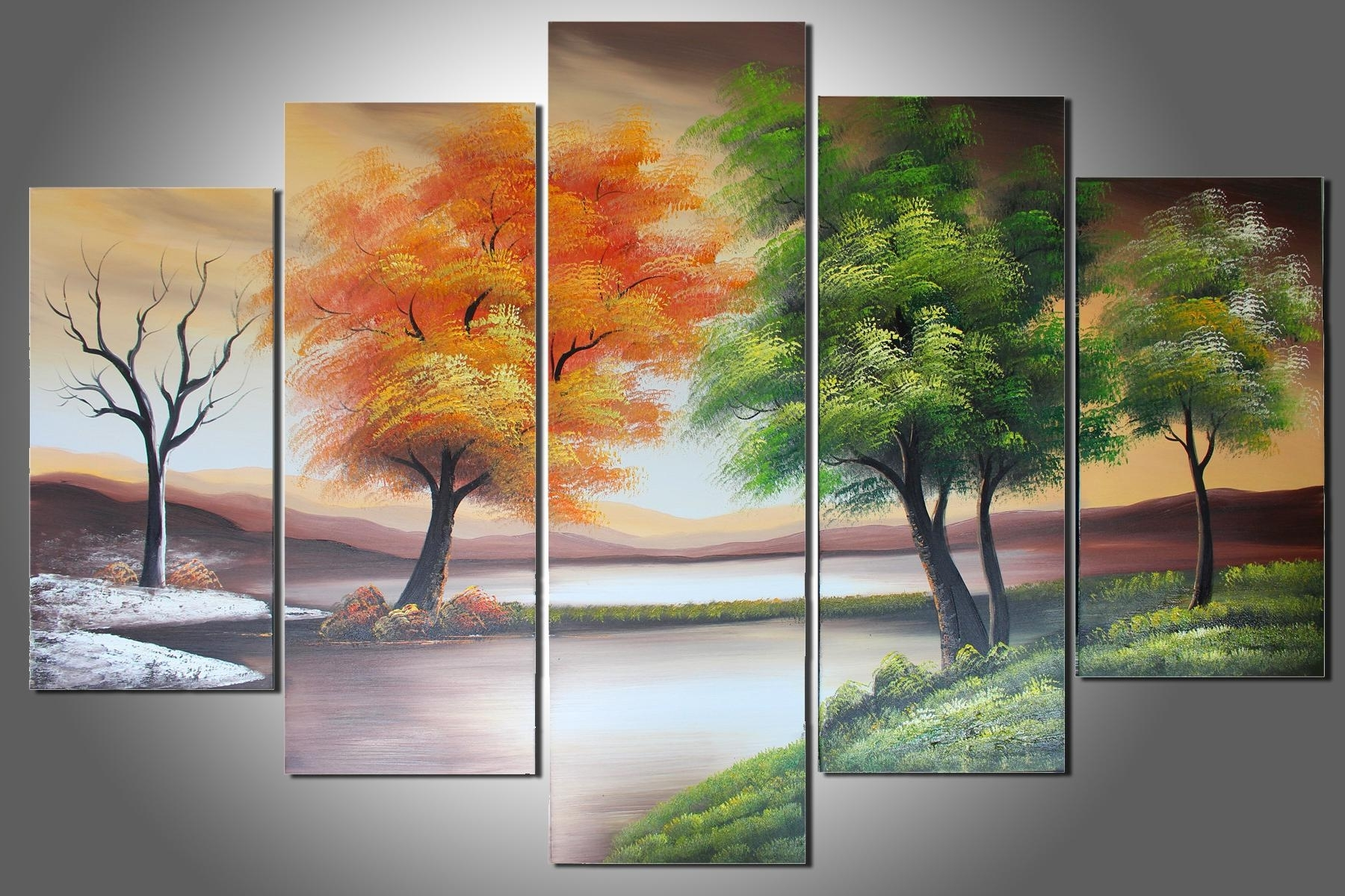 [%100% Hand Painted Four Seasons Trees Abstract Oil Painting Wall Pertaining To Recent Five Piece Wall Art|Five Piece Wall Art Inside Most Up To Date 100% Hand Painted Four Seasons Trees Abstract Oil Painting Wall|2018 Five Piece Wall Art Throughout 100% Hand Painted Four Seasons Trees Abstract Oil Painting Wall|Newest 100% Hand Painted Four Seasons Trees Abstract Oil Painting Wall In Five Piece Wall Art%] (View 1 of 15)