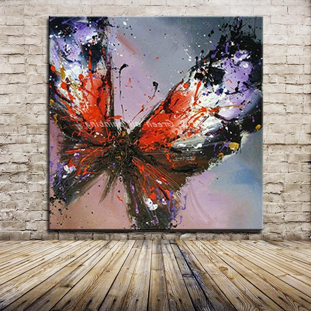 [%100% Handmade Modern Abstract Butterfly Oil Painting On Canvas For Well Known Abstract Butterfly Wall Art|abstract Butterfly Wall Art Within Preferred 100% Handmade Modern Abstract Butterfly Oil Painting On Canvas|most Current Abstract Butterfly Wall Art Pertaining To 100% Handmade Modern Abstract Butterfly Oil Painting On Canvas|current 100% Handmade Modern Abstract Butterfly Oil Painting On Canvas In Abstract Butterfly Wall Art%] (View 8 of 15)