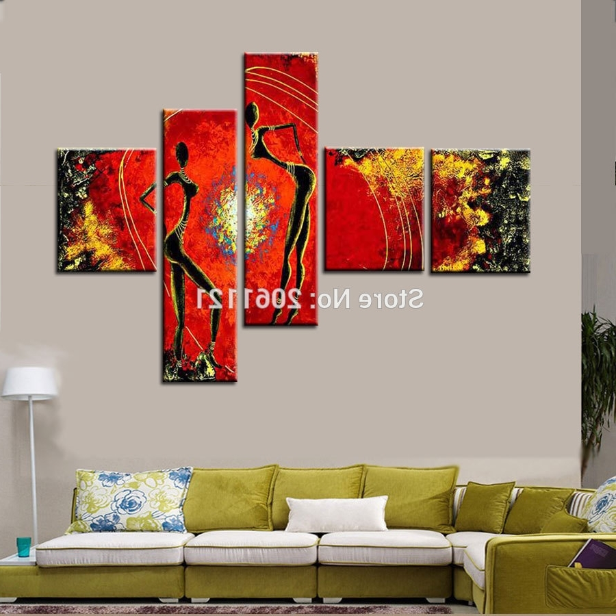 [%100% Handmade Oil Painting On Canvas Red Decorative Pictures With Trendy Multi Canvas Wall Art|multi Canvas Wall Art With Regard To Most Recently Released 100% Handmade Oil Painting On Canvas Red Decorative Pictures|most Recent Multi Canvas Wall Art In 100% Handmade Oil Painting On Canvas Red Decorative Pictures|2017 100% Handmade Oil Painting On Canvas Red Decorative Pictures Throughout Multi Canvas Wall Art%] (View 4 of 15)