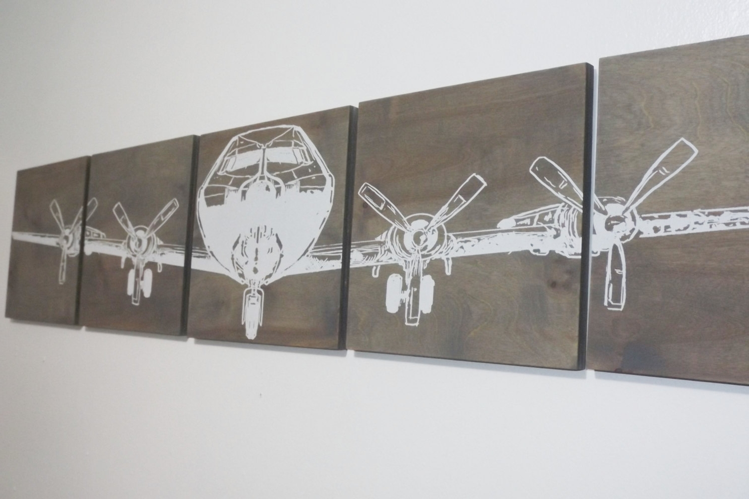 12X 60 Military Aviation Art, Vintage Ww2, Airplane Extra Large With Well Liked Large Vintage Wall Art (Gallery 7 of 15)