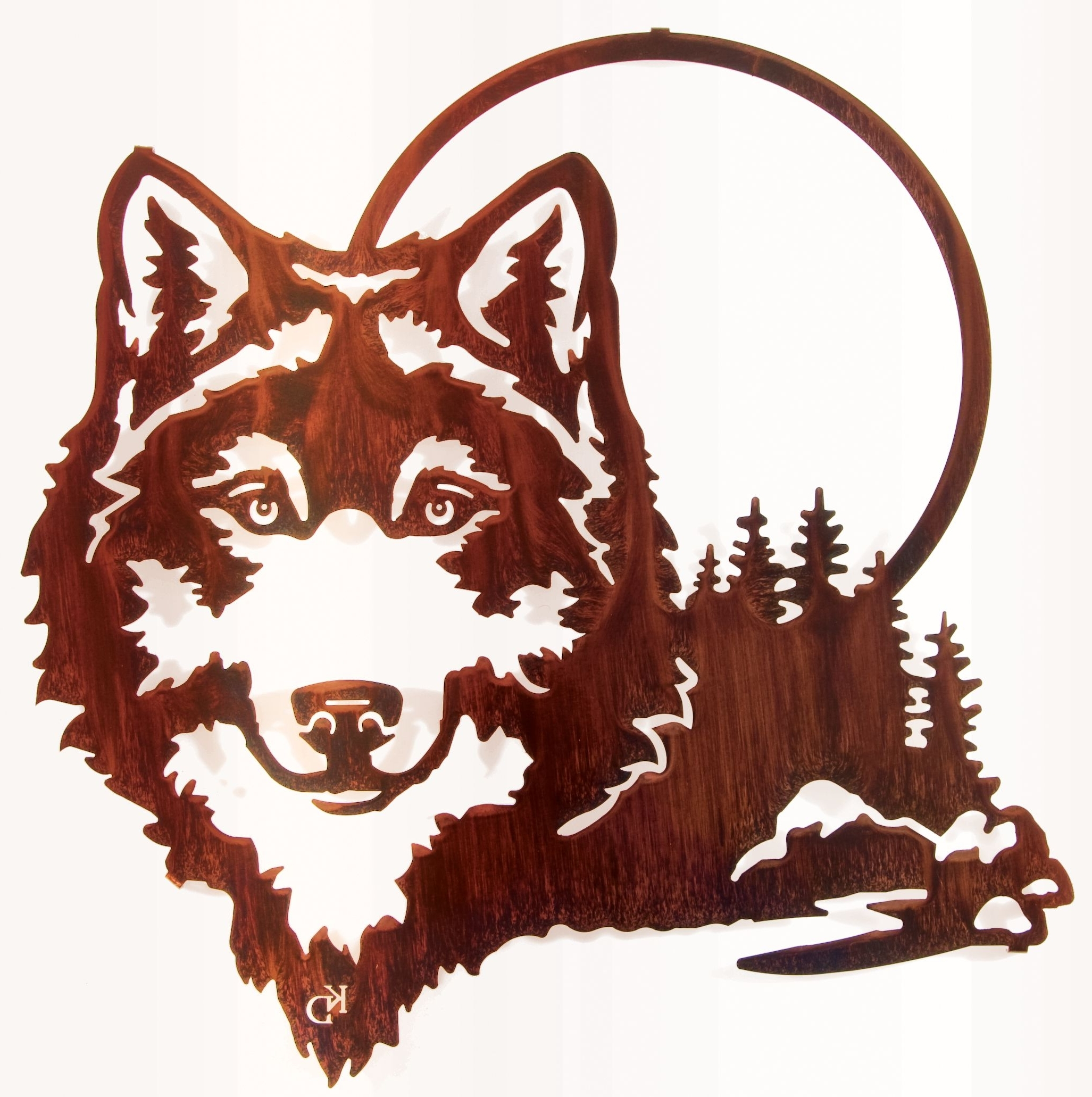 "20"" Wolf And Moon Wall Art Www (View 1 of 15)"