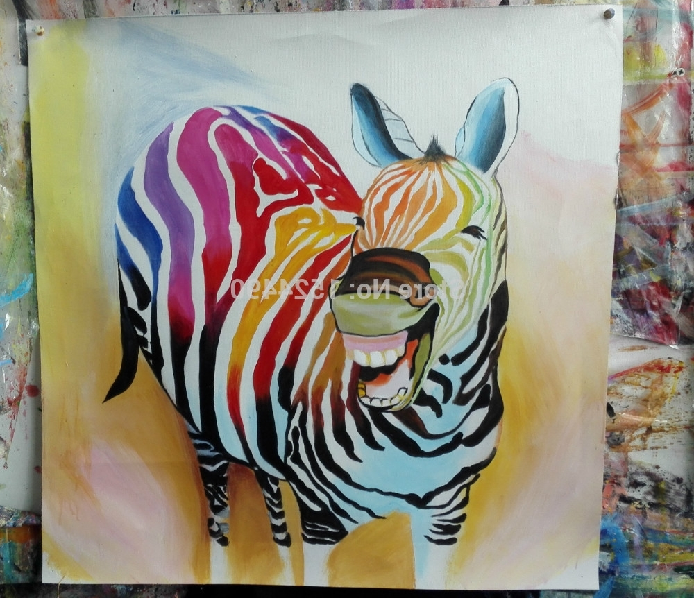 2016 Hot Sell !! Cartoon Oil Painting On Canvas Abstract Animal For Most Recently Released Abstract Animal Wall Art (View 2 of 15)
