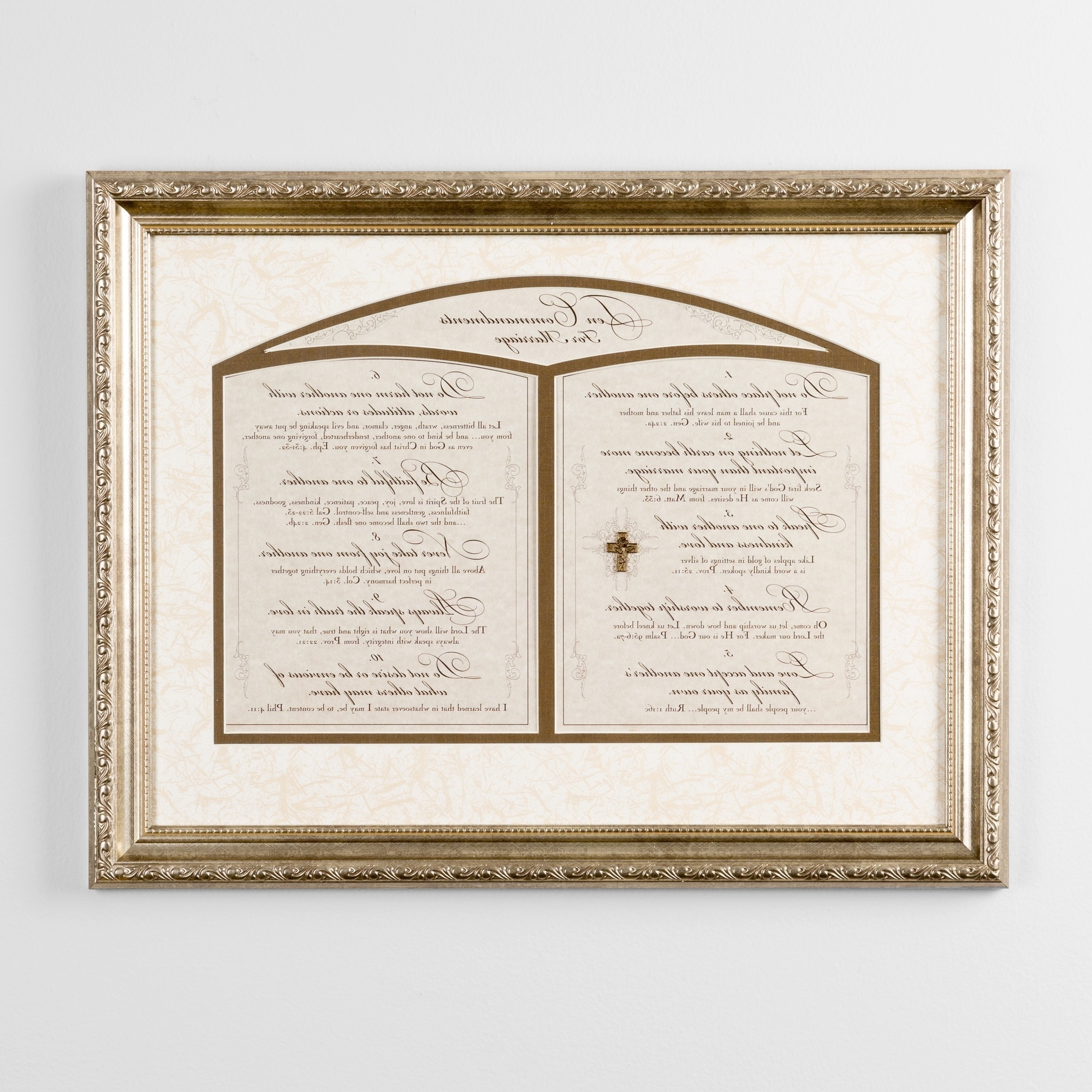 2017 10 Commandments Wall Art Inside The Ten Commandments For Marriage Framed Print (View 3 of 15)