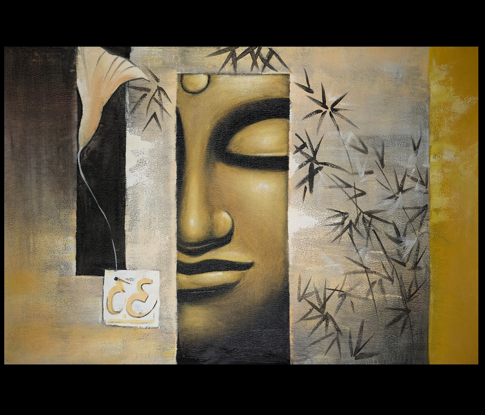 2017 Abstract Buddha Wall Art Throughout B004Hk8Wz4 Canvas Wall Art Modern Contemporary Abstract Art Framed (Gallery 1 of 15)
