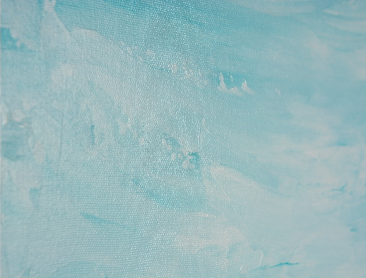 """2017 Abstract Horizon Wall Art Intended For Horizonqiqigallery 48"""" X 24"""" Abstract Seascape Painting (View 1 of 15)"""