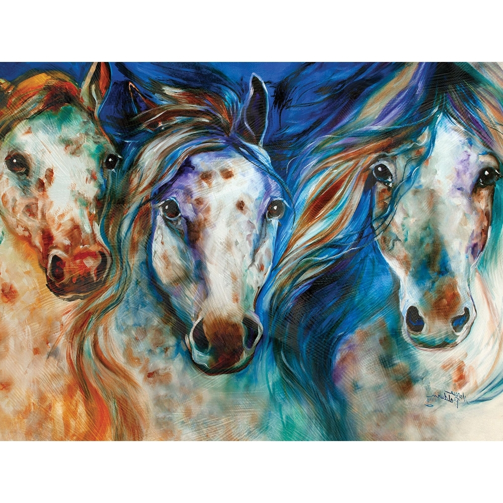 2017 Abstract Horse Wall Art Within Wild Appaloosa Horses Canvas Wall Art (View 2 of 15)