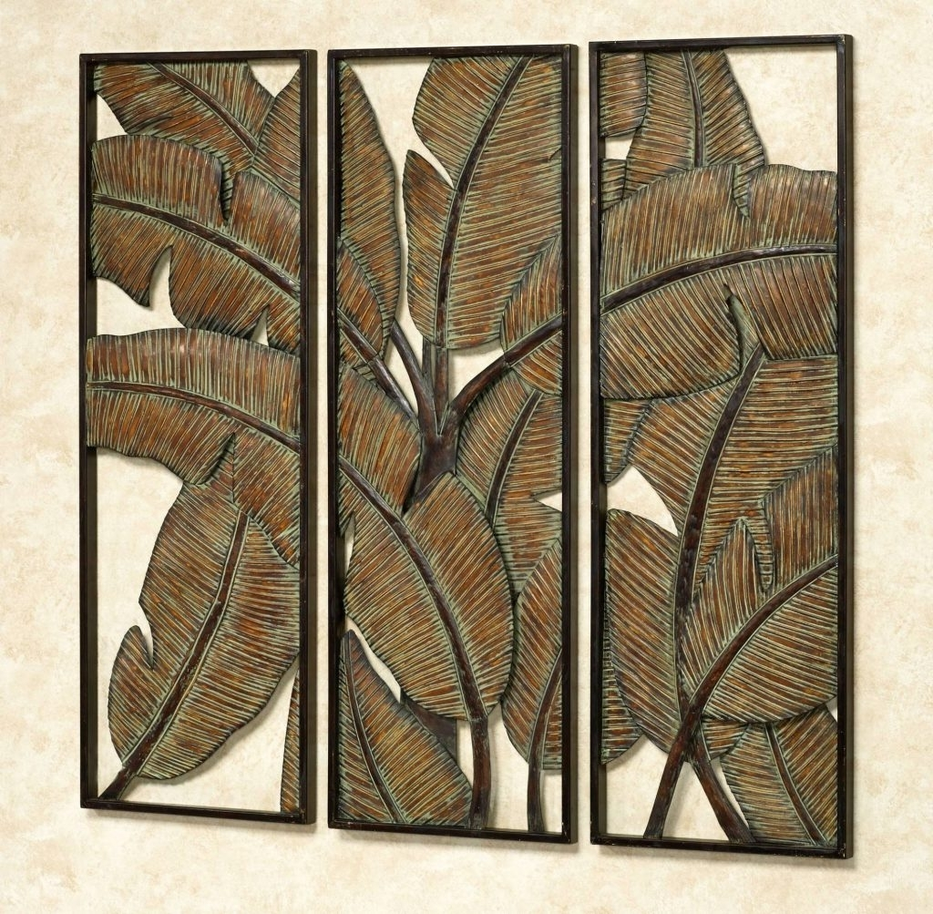 2017 Abstract Leaf Metal Wall Art Throughout Marvellous Tropical Metal Wall Art With 20 Best Of Kaylani Leaf (View 1 of 15)