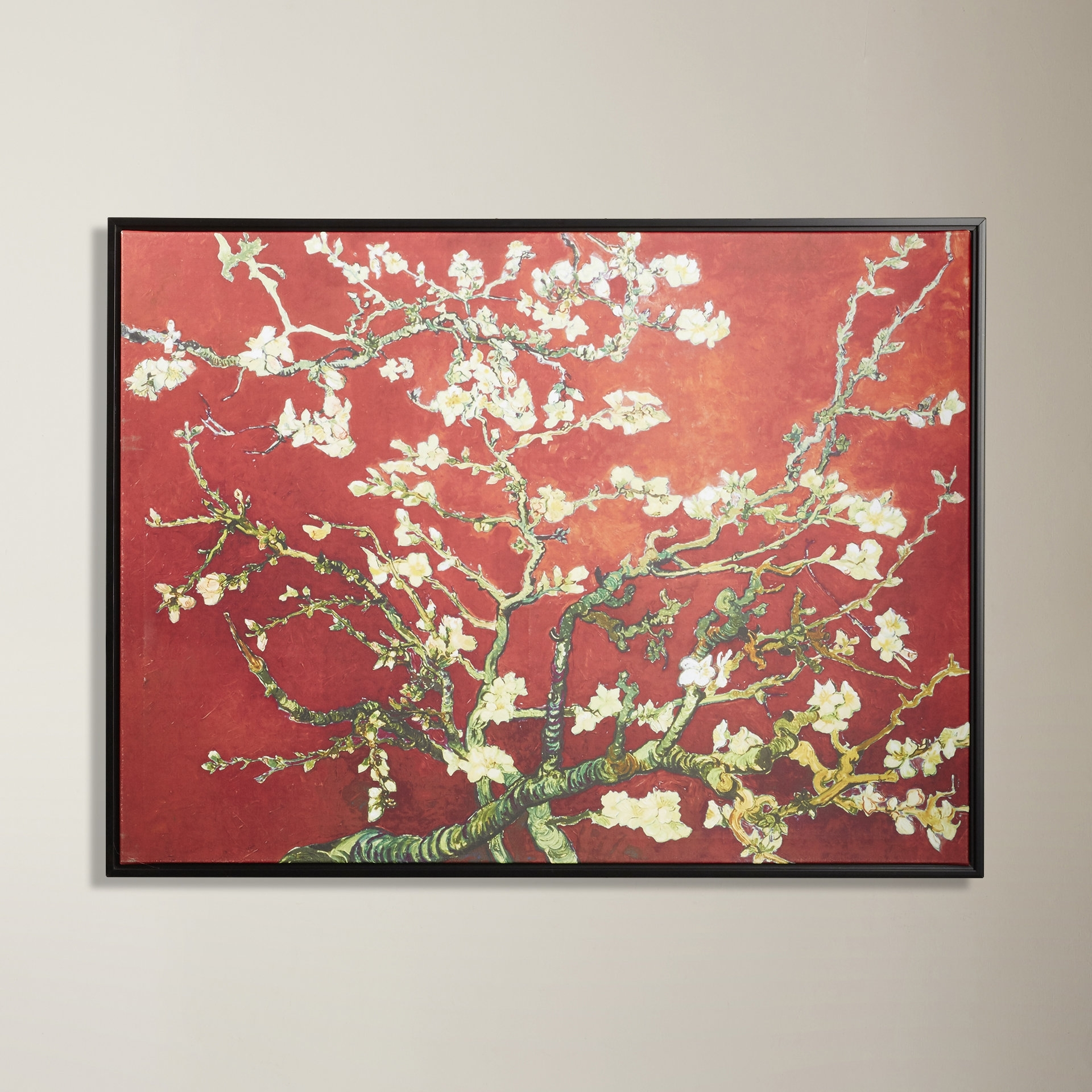 2017 Almond Blossoms Vincent Van Gogh Wall Art Within World Menagerie 'interpretation In Red Almond Blossom'vincent (View 1 of 15)