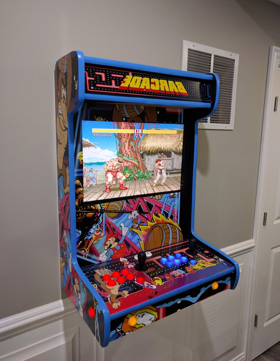 2017 Arcade Wall Art Pertaining To These Wall Mounted Arcade Cabinets Save Quarters And Space – Technabob (View 2 of 15)