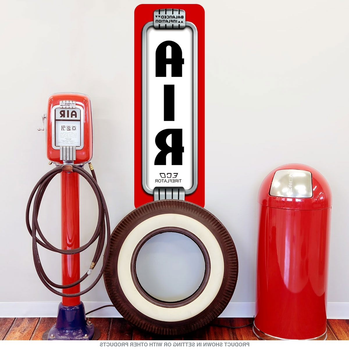 2017 Art Deco Wall Decals With Air Pump Art Deco Gas Station Wall Decal (View 1 of 15)