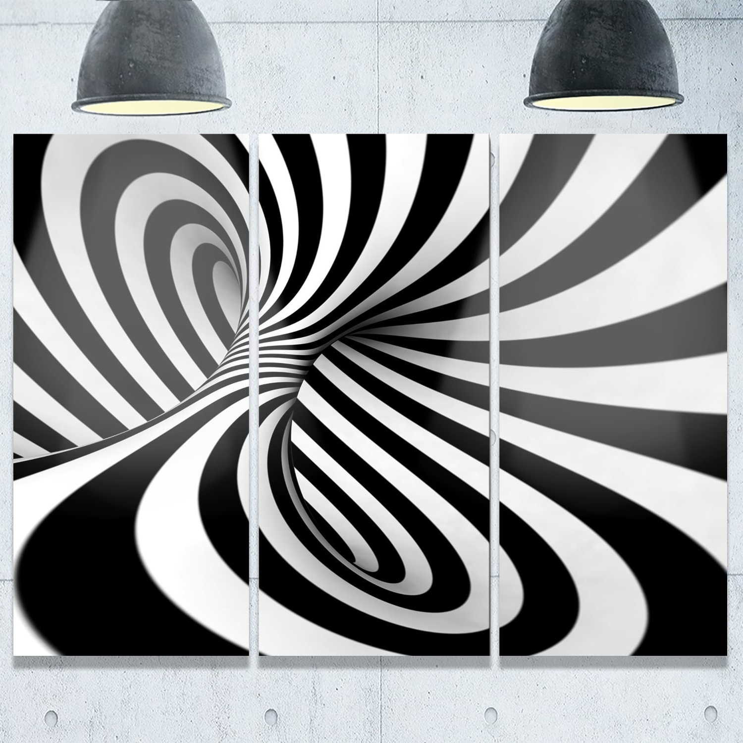 2017 Black And White Abstract Wall Art With Spiral Black N' White – Abstract Art Glossy Metal Wall Art – Free (Gallery 8 of 15)