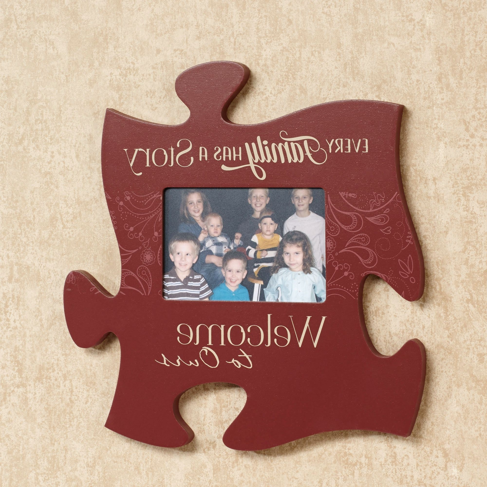 2017 Burgundy Wall Art For Every Family Photo Frame Puzzle Piece Wall Art (View 14 of 15)