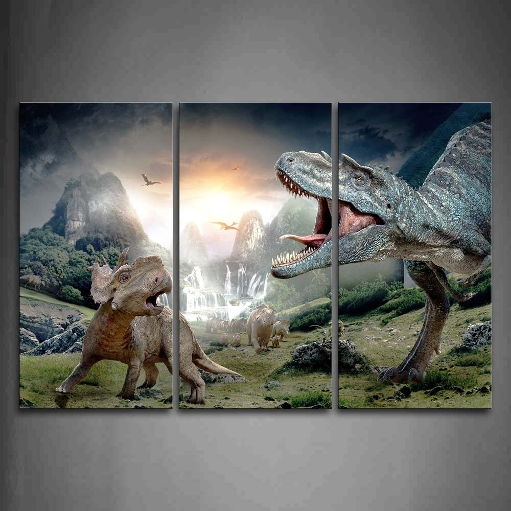 Featured Photo of Dinosaur Canvas Wall Art