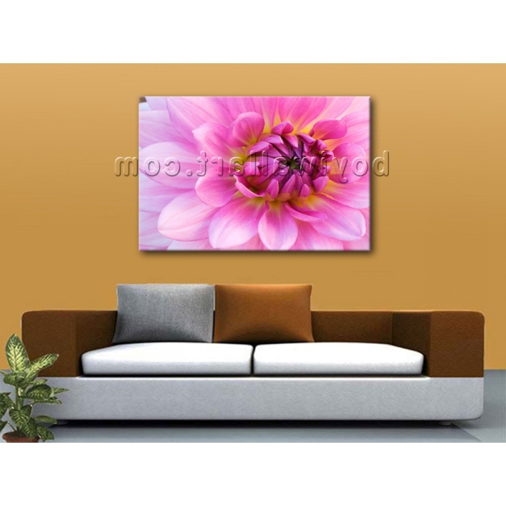 2017 Contemporary Abstract Floral Wall Art Print On Canvas Flower With Abstract Floral Wall Art (View 1 of 15)