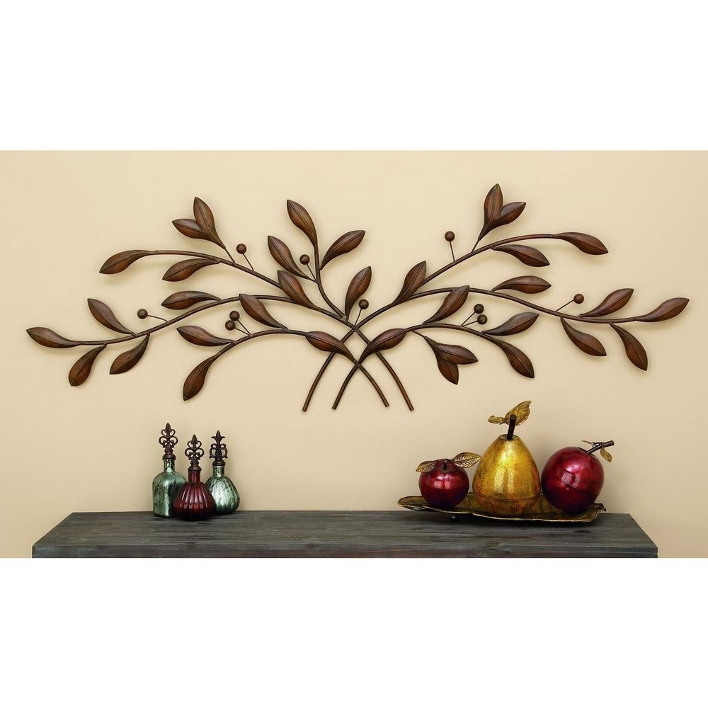2017 Copper Oak Tree Wall Art In Titan Lighting Ollerton 14 In. X 14 In (View 1 of 15)