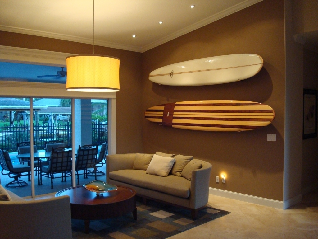 2017 Decorative Surfboard Wall Decor (View 2 of 15)