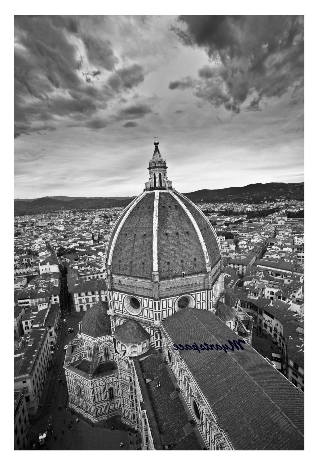 2017 Duomo Of Florence Print, Travel To Italy, Black & White Cityscape Inside Black And White Italian Wall Art (View 1 of 15)