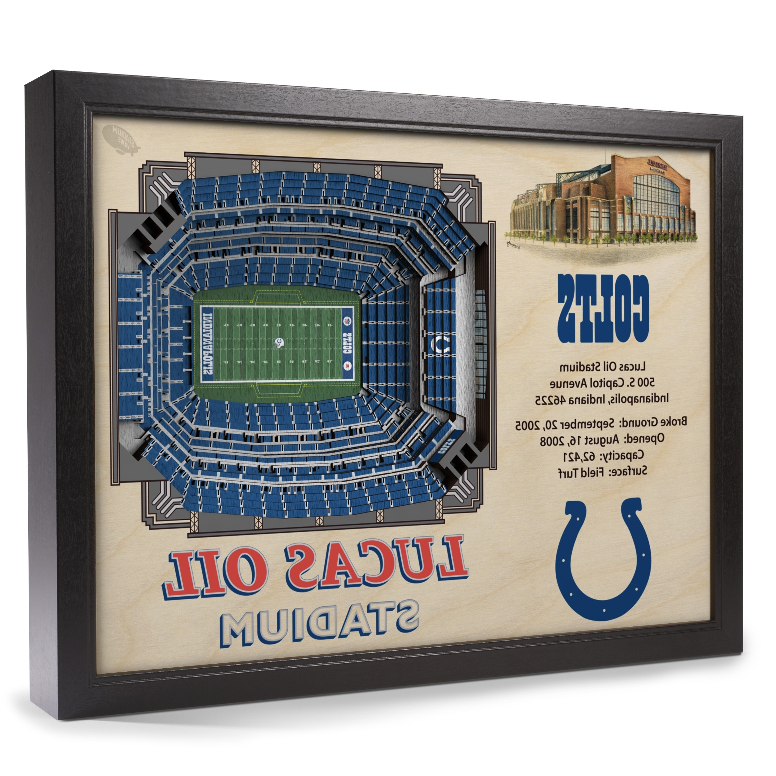 2017 Electronic Wall Art Throughout Indianapolis Colts Stadiumview Wall Art – Lucas Oil Stadium 3 D (View 1 of 15)