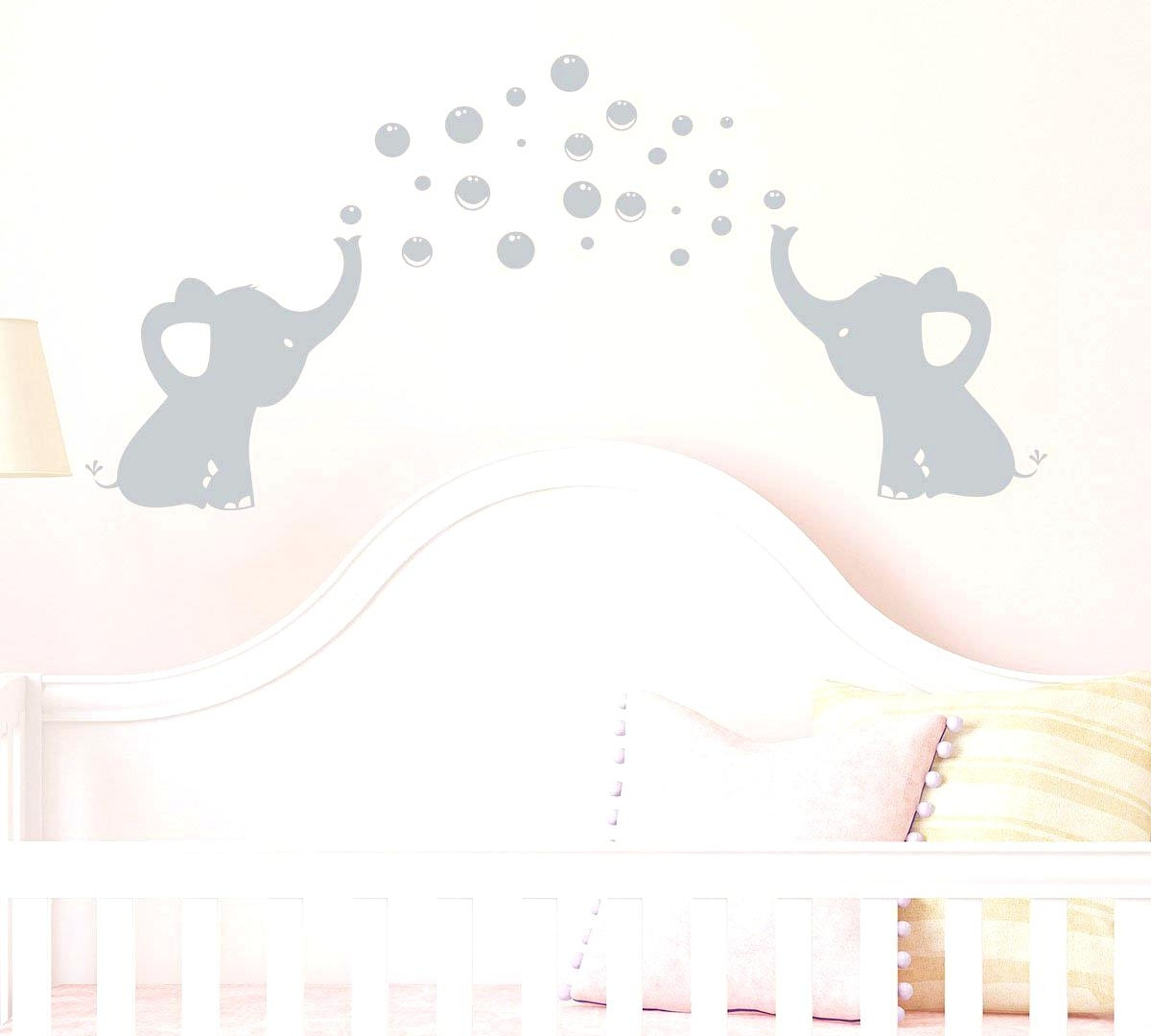 2017 Elephant Wall Art For Nursery Regarding Baby Elephant Wall Decals Elephants Bubbles Wall Decal Vinyl Wall (View 2 of 15)