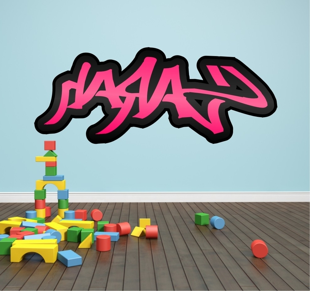 2017 Graffiti Wall Bedroom Personalised Graffiti Name Wall Sticker Kids Inside Personalized Graffiti Wall Art (View 14 of 15)