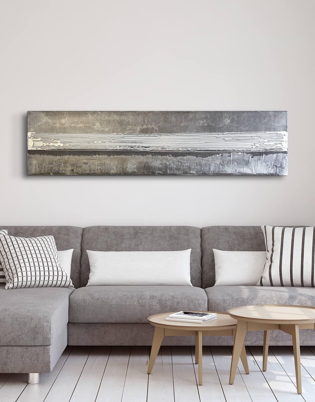 2017 Grey Silver – Contemporary Original Painting – Silver Wall Art With Uk Contemporary Wall Art (View 1 of 15)