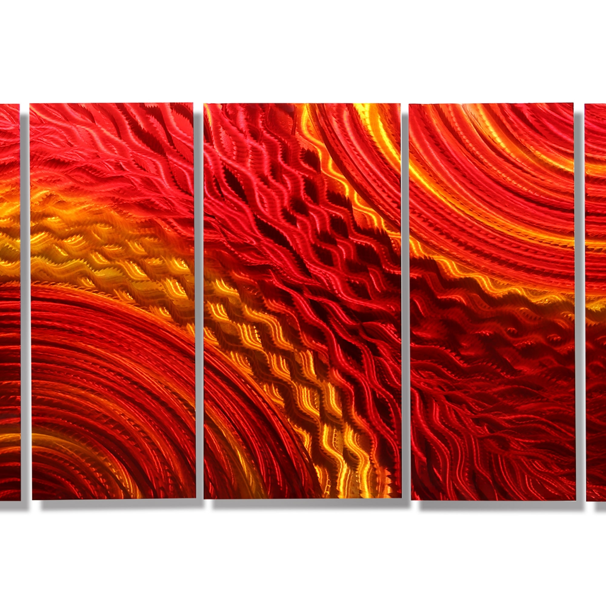 2017 Harvest Moods Xl – Contemporary Red/gold Abstract Metal Hand With Abstract Orange Wall Art (View 8 of 15)