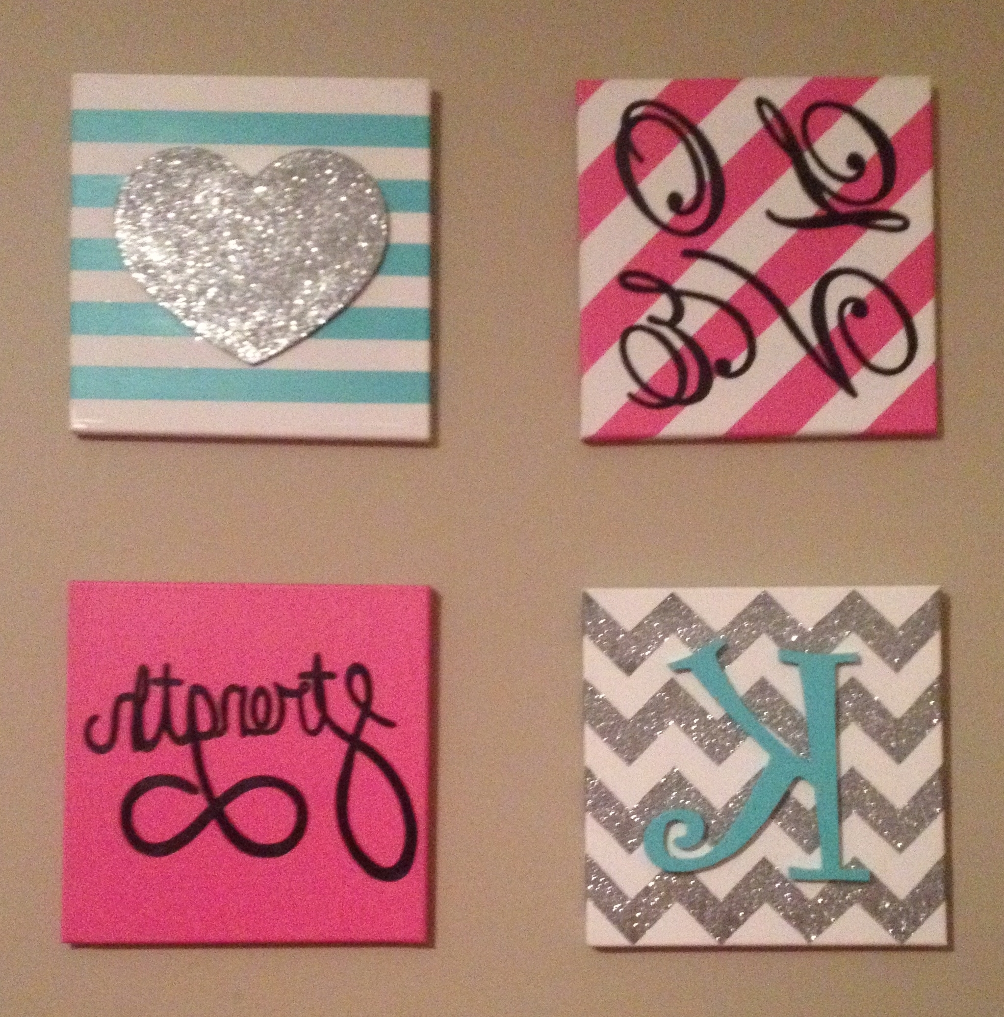 2017 Homemade Canvas Art: Diy 12X12 Canvas Idea (View 1 of 15)