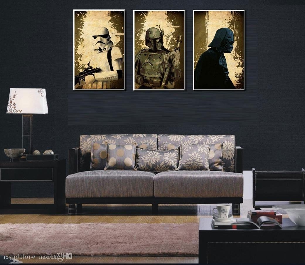 2017 Huge Wall Art Throughout 2018 Modern Huge Wall Art Oil Painting On Canvas,star Wars (View 1 of 15)