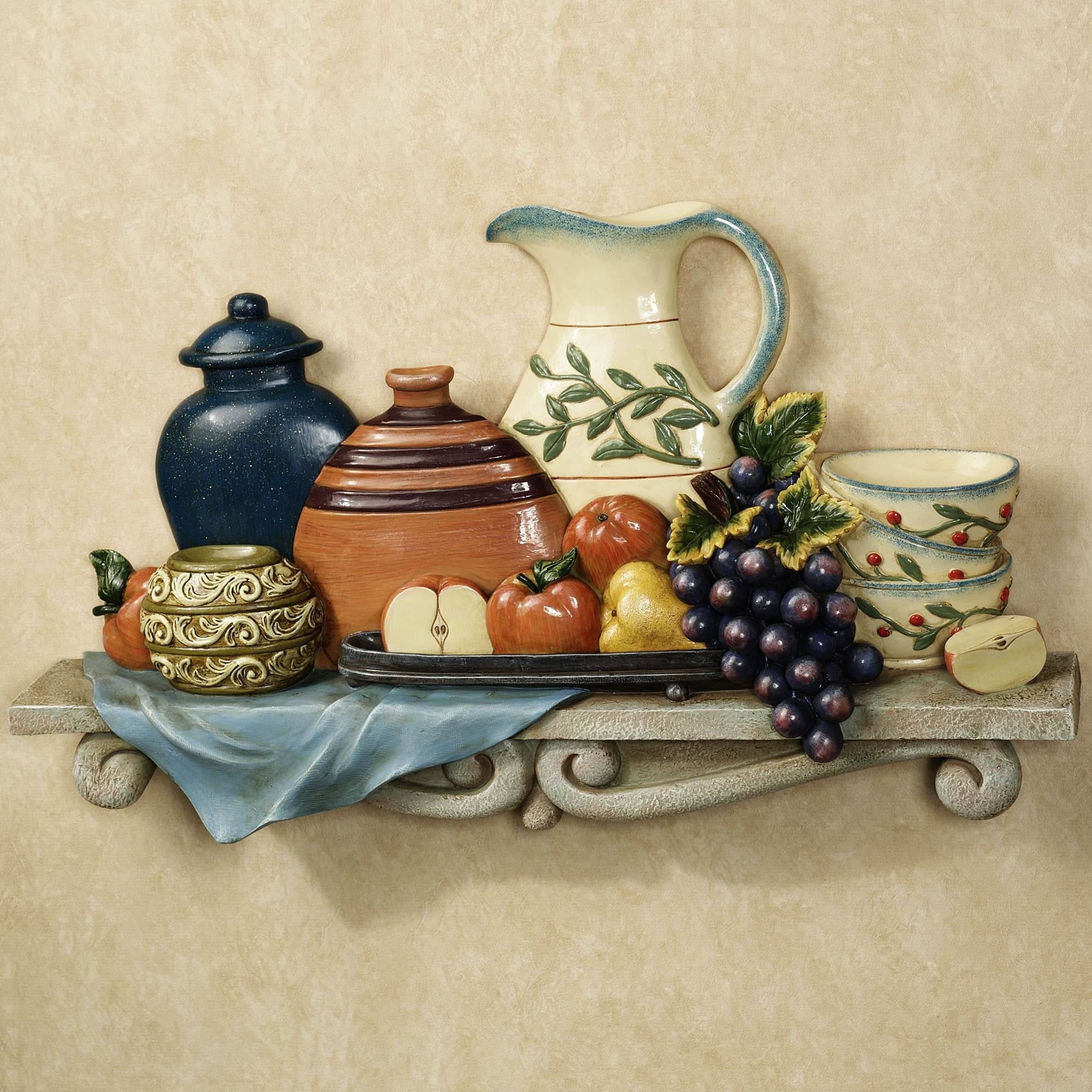 2017 Kitchen Style: Tuscan Kitchen Wall Decor For Welcoming Ambience Inside Italian Wall Art For The Kitchen (View 3 of 15)