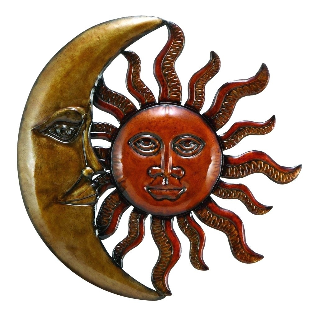 2017 Large Metal Sun Wall Art For Wall Arts ~ Celestial Sun Moon Wall Art Hanging Metal Plaque Large (View 2 of 15)