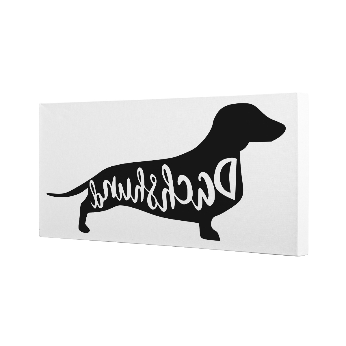 2017 Modern Dachshund Dog Canvas Wall Art Home Décor U2013 Paper Blast Intended  For Dachshund Wall