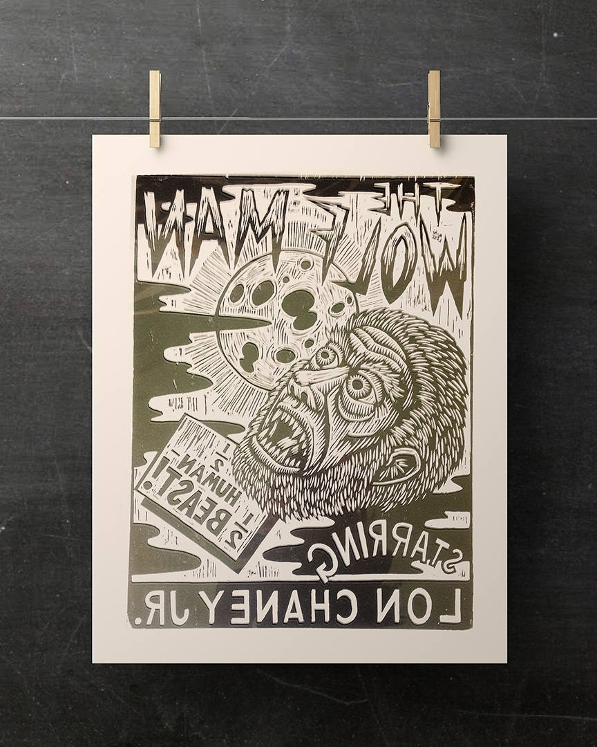2017 Ouija Board Wall Art With Ouija Board Woodcut Wall Arthorse And Hare Hand Printed (View 10 of 15)