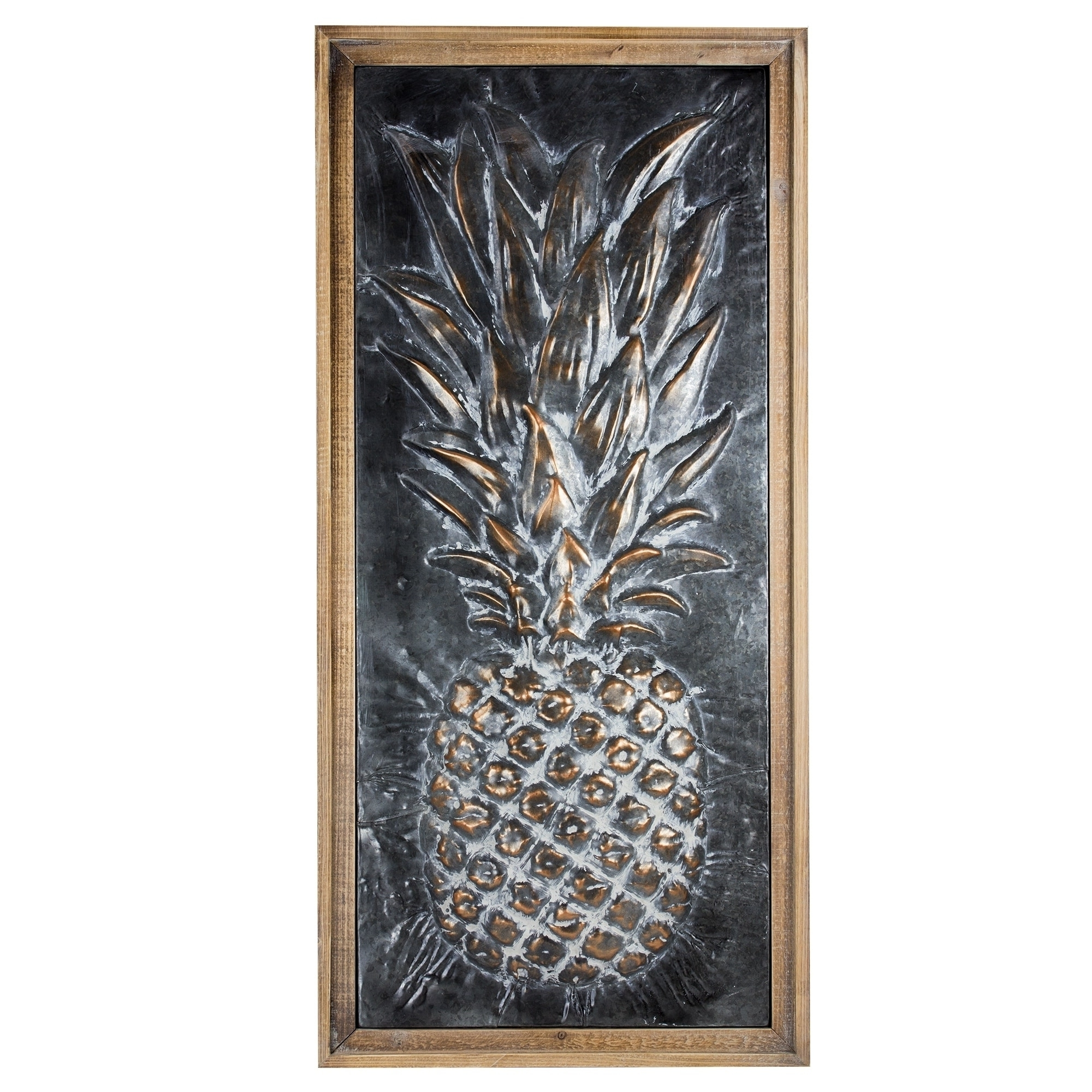 2017 Pineapple Metal Wall Art With Regard To Metal Pineapple Wall Art – Free Shipping Today – Overstock (View 2 of 15)