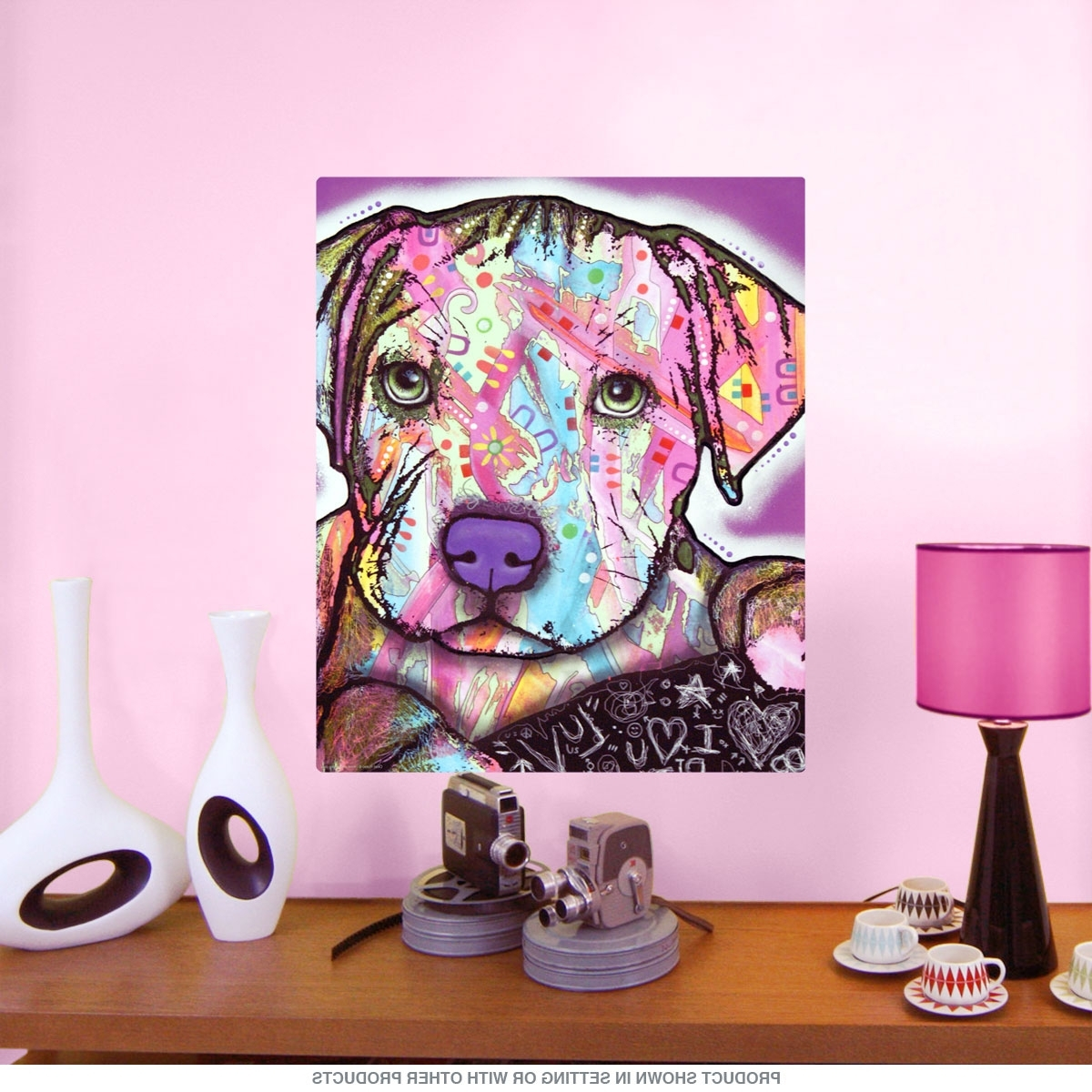 2017 Pitbull Wall Art Within Baby Pit Bull Dog Dean Russo Pop Art Wall Decal (View 1 of 15)