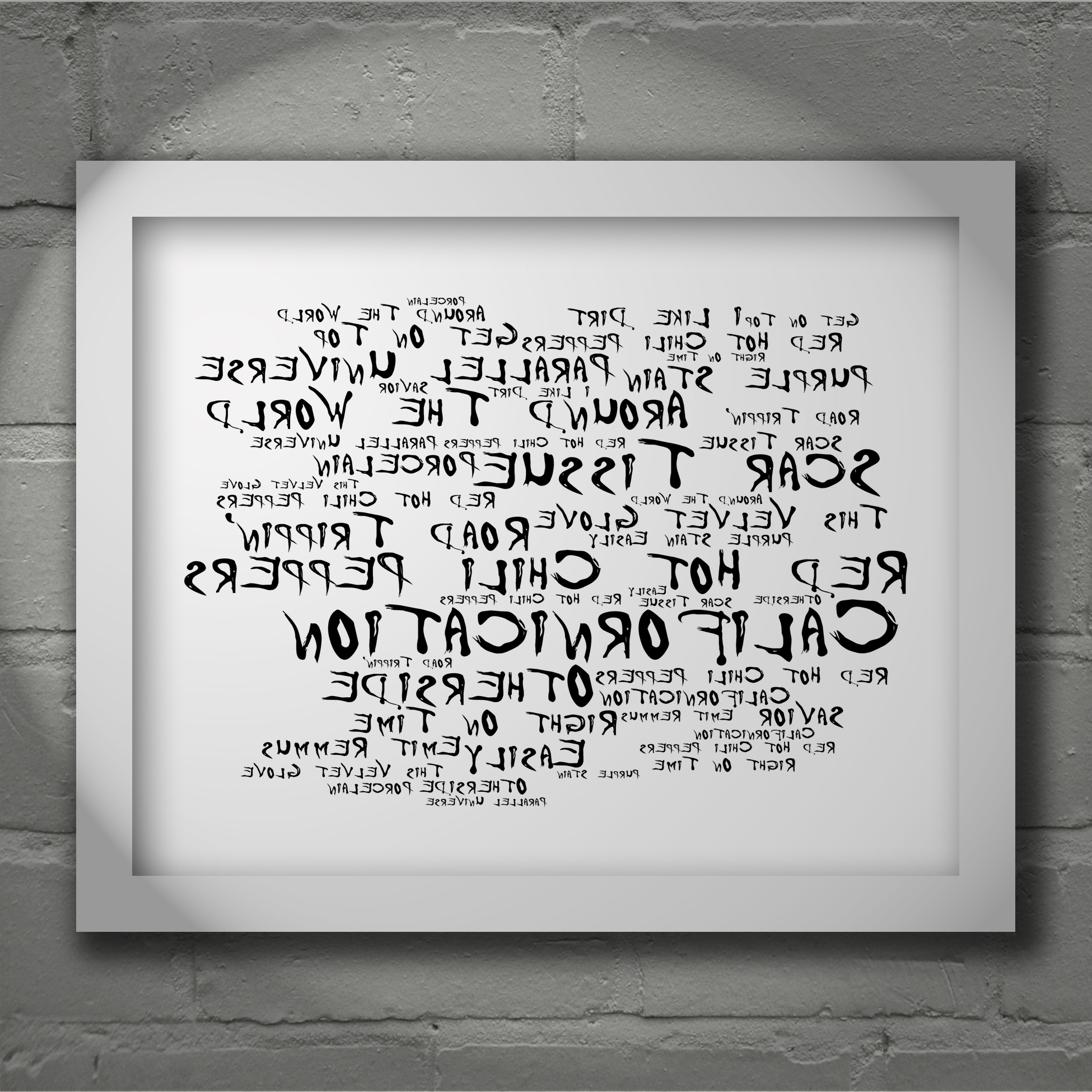 2017 Red Hot Chili Peppers Californication Limited Edition Typography Throughout Johnny Cash Wall Art (View 6 of 15)