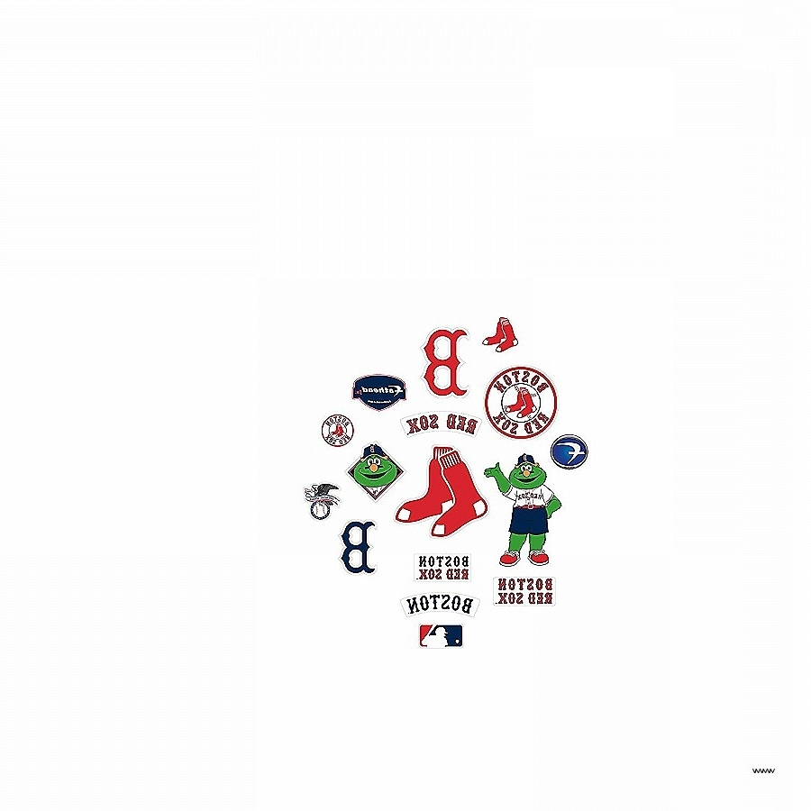 2017 Red Sox Wall Art Pertaining To Red Sox Wall Art Unique Amazon Mlb Boston Red Sox Team Logo (View 1 of 15)