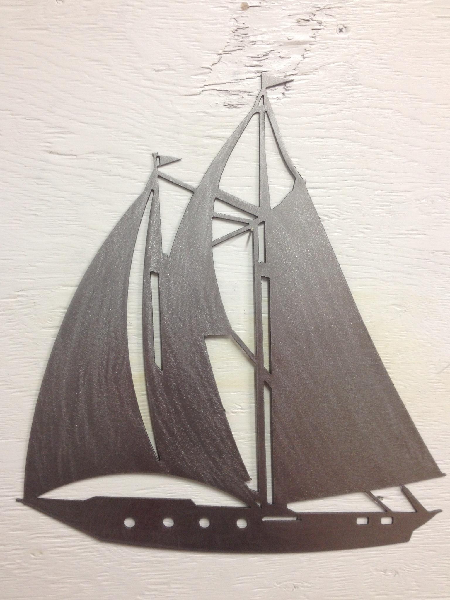2017 Sailboat, Nautical, Boats, Ocean, Fresh Water, Salt Water, Sails Within Sailboat Metal Wall Art (View 12 of 15)