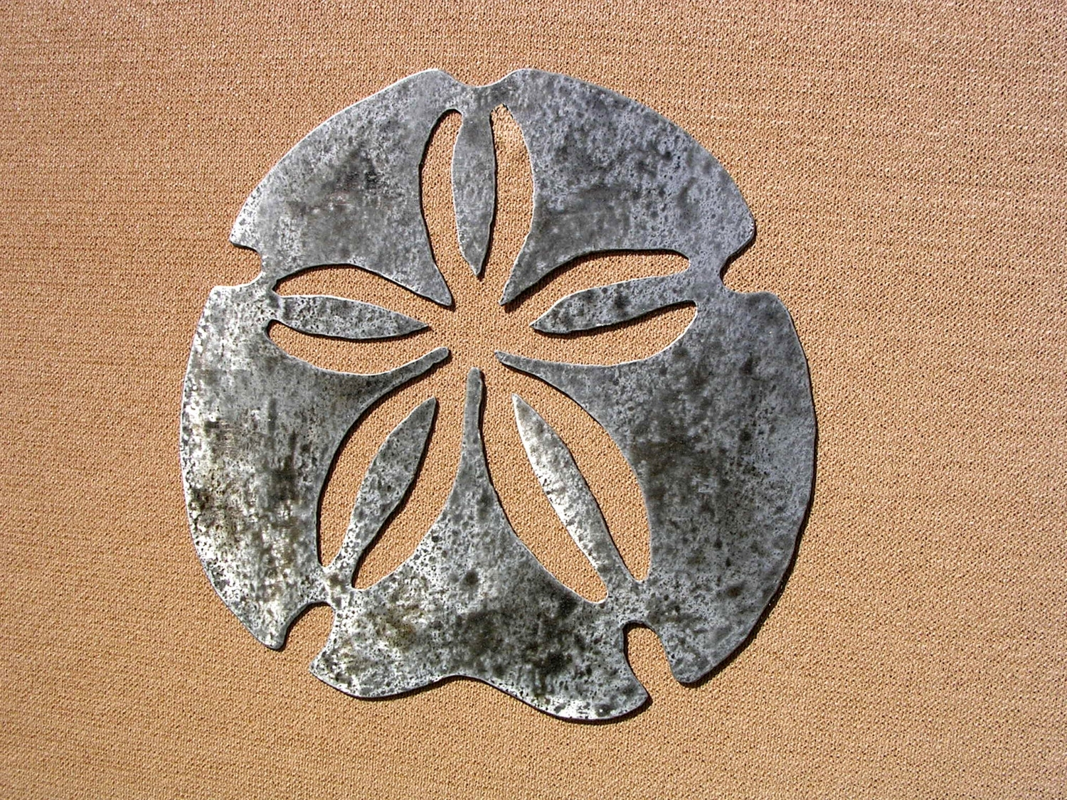 2017 Sand Dollar Wall Art With Sand Dollar Art Large Outdoor Metal Wall Art Sculpture Sanddollar (View 4 of 15)