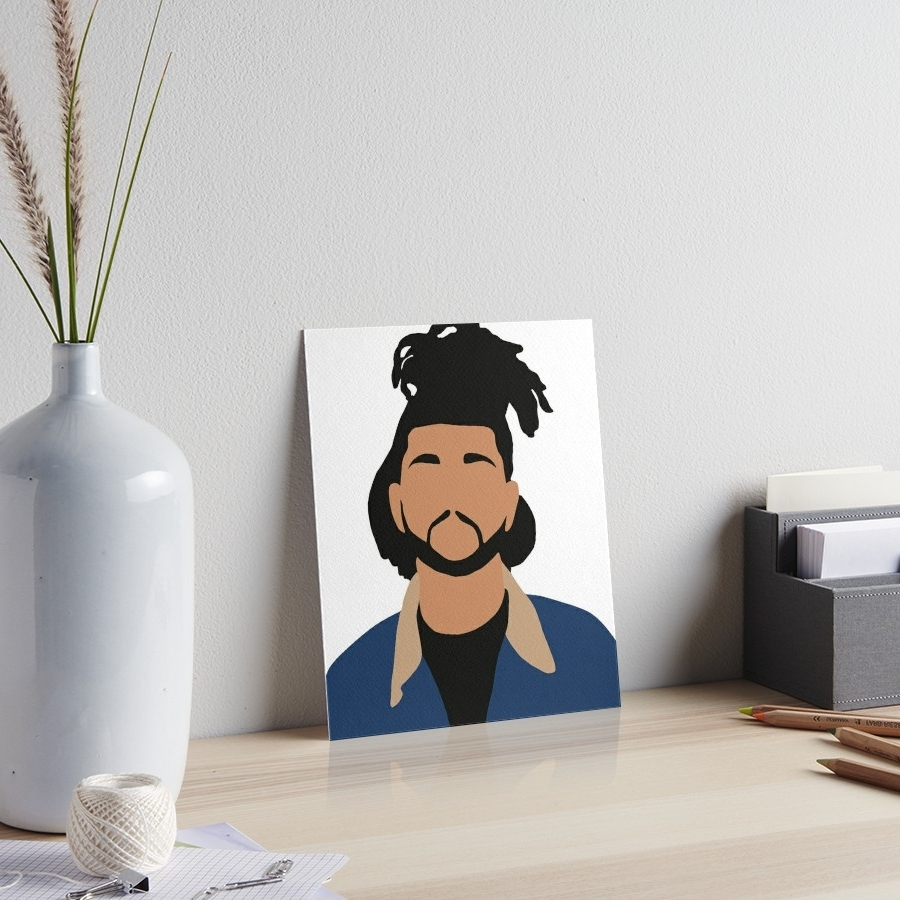 "2017 The Weeknd Wall Art With The Weeknd Minimalist Illustration "" Art Boardschris Jackson (View 1 of 15)"