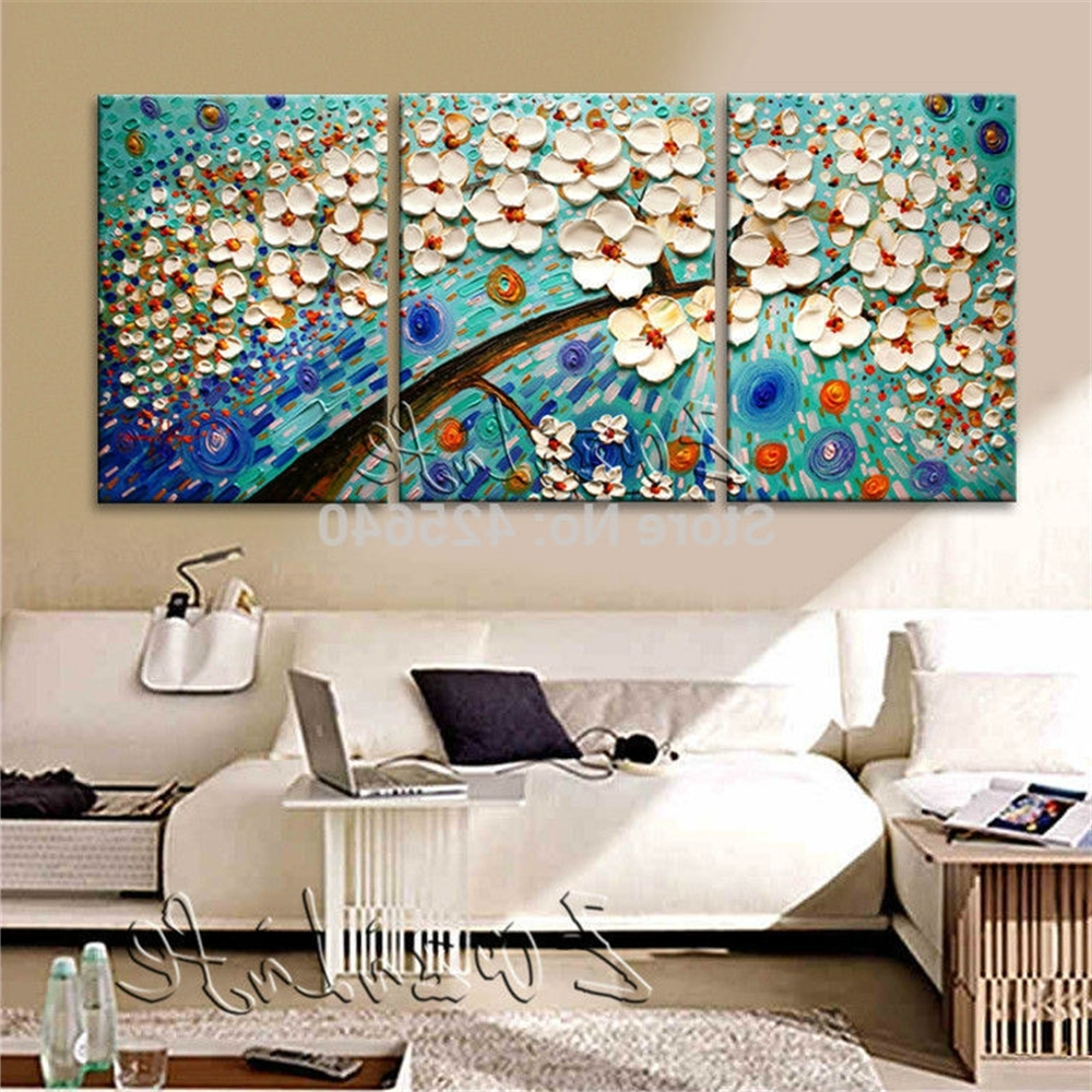 2017 Three Piece Canvas Wall Art With Regard To Oil Painting 3 Panel 3 Piece Canvas Cuadros Decoracion Wall Art (View 11 of 15)