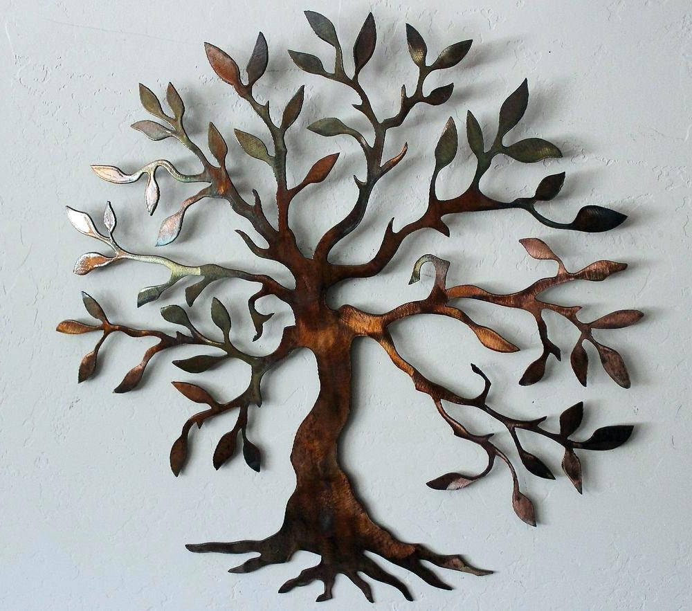 2017 Wall Arts ~ Wire Wall Art Trees Olive Tree Tree Of Life Metal Wall With Wire Wall Art Decors (View 1 of 15)