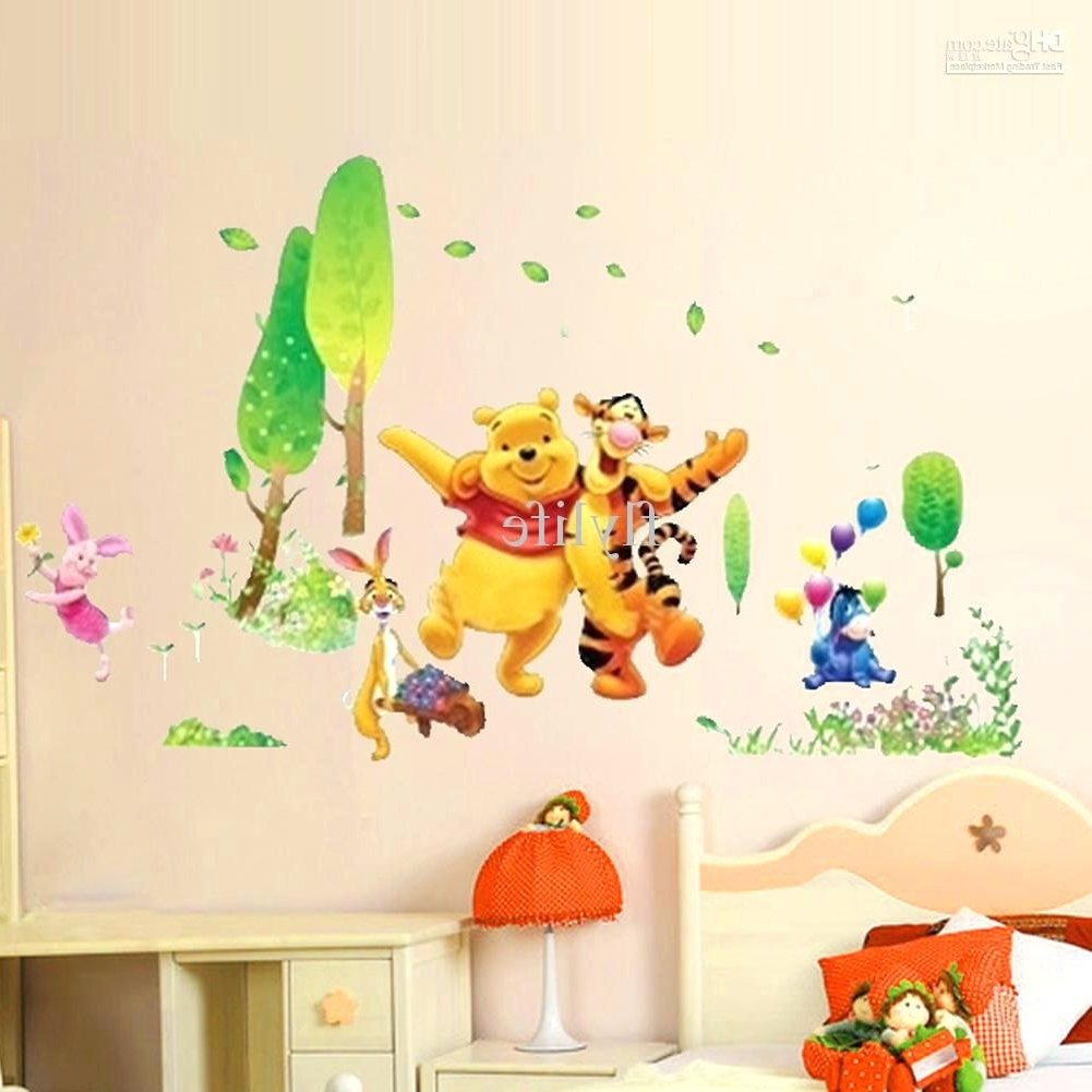 2017 Winnie The Pooh Wall Decor In Winnie The Pooh Nursery Wall Decals The Pooh And Happy Animals In (View 2 of 15)