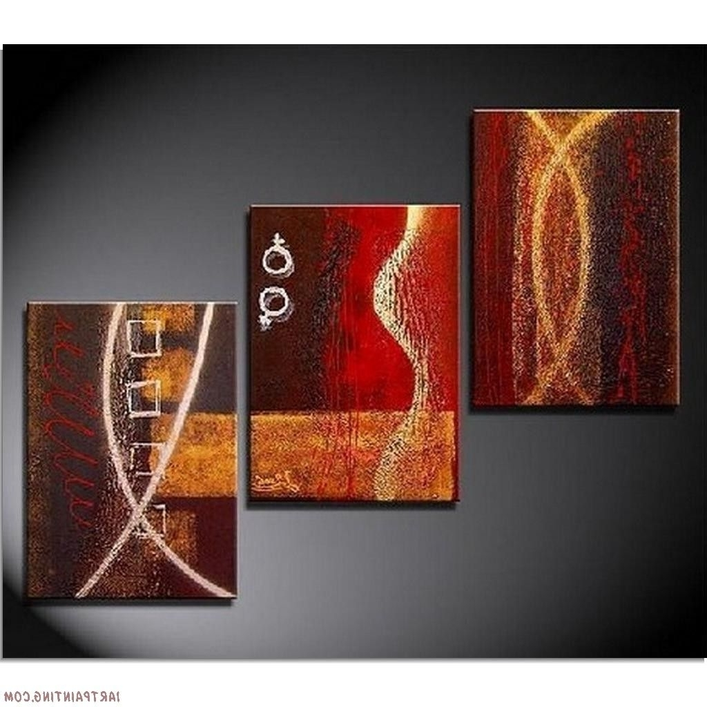 2018 3 Piece Abstract Wall Art Inside Acrylic+Painting+Ideas (View 3 of 15)