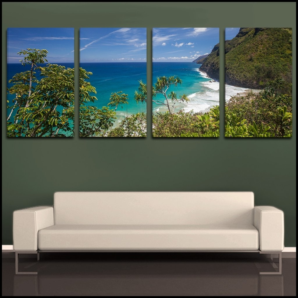 2018 4 Piece Canvas Art Sets Throughout Calmly Diy Shower Curtain Wall Art Diy Large Scale Wall Art Pieces (View 1 of 15)