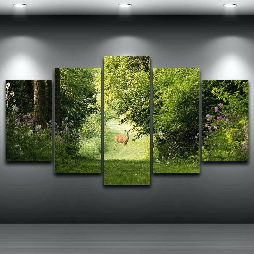 2018 Abstract Nature Wall Art Throughout Wall Arts ~ Abstract Nature Canvas Wall Art Canvas Wall Art Sets (Gallery 3 of 15)