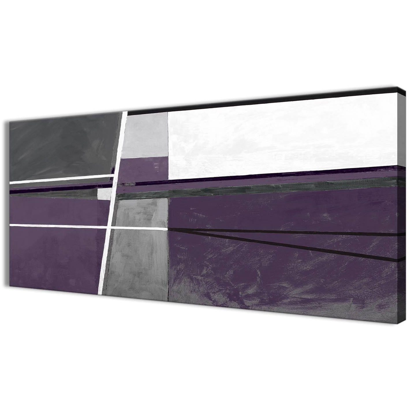 2018 Aubergine Grey Painting Bedroom Canvas Wall Art Accessories With Aubergine Wall Art (View 2 of 15)