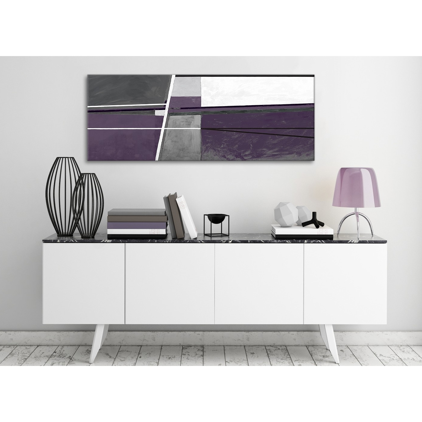 2018 Aubergine Grey Painting Bedroom Canvas Wall Art Accessories With Aubergine Wall Art (View 1 of 15)