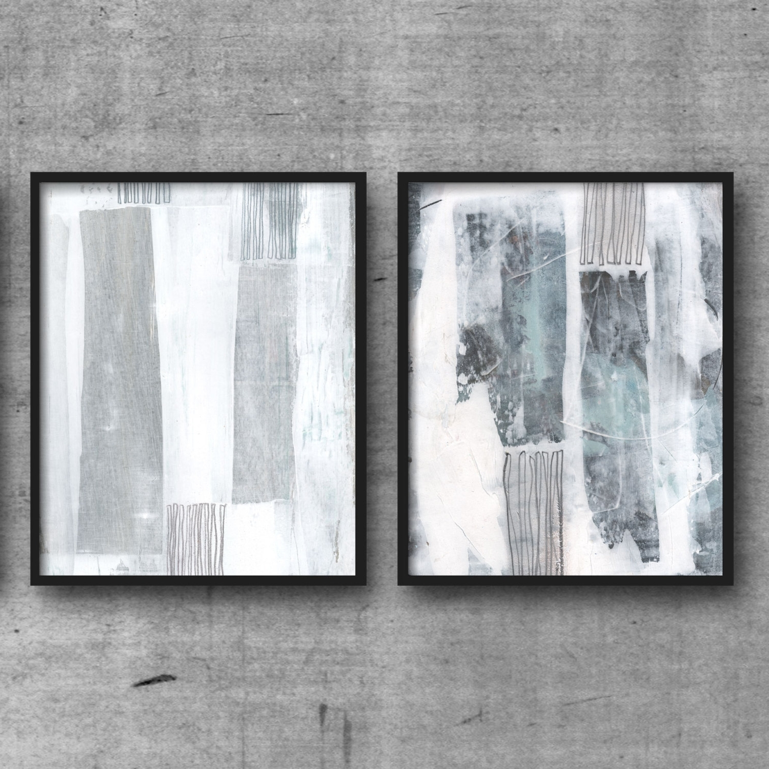2018 Blue And White Wall Art With Regard To Minimalist Print Set, Scandinavian Design, Printable Art, Abstract (View 14 of 15)