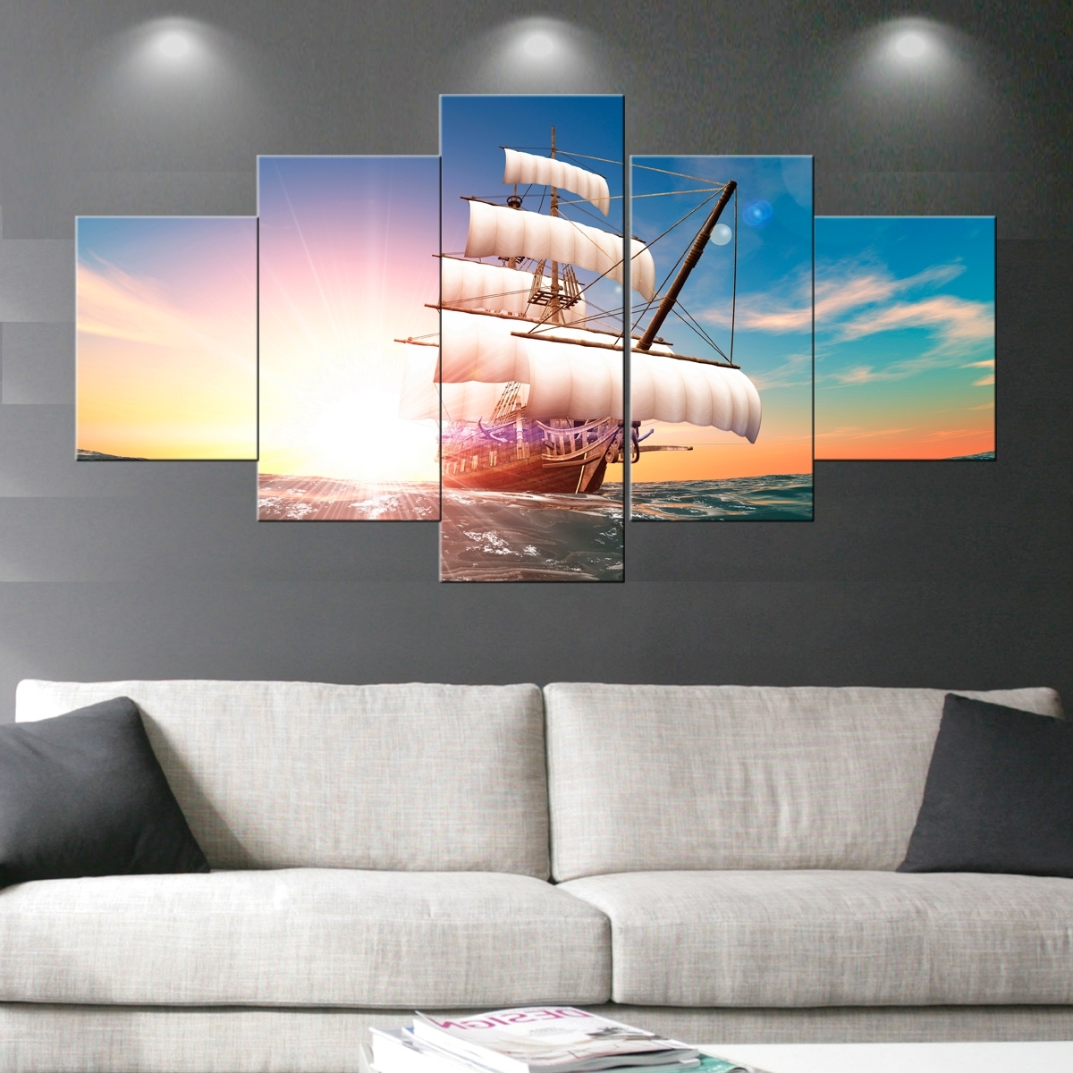 2018 Boat Wall Art In Boat Sail Paintings Wall Art Giclee Canvas Prints Landscape (View 8 of 15)