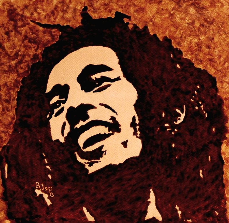 2018 Bob Marley Canvas Wall Art Inside Painting Bob Marley Paintinggeorgeta Blanaru (View 2 of 15)